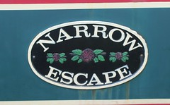 Narrow Escape - Nameplate. (AndrewHA's) Tags: hertfordshire bishopsstortford narrow boat narrowescape river stort navigation canal barge