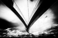 Come Together (Esther's Fotografie (On and Off)) Tags: bridge nesciobridge blackandwhite bw architecture