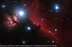 IC434 Horsehead Nebula 2 (achrntatrps) Tags: constellationdorion orion nightshot d5300 nikon photographe photographer alexandredellolivo dellolivo lachauxdefonds suisse nuit night nacht galaxie galaxy achrntatrps achrnt atrps radon200226 radon etoiles stars sterne estrellas stelle astronomie astronomy nicht noche notte suivi astrophotographie ic434 nébuleusedelatêtedecheval horseheadnebula flamenebula ngc2024 sh2277 lbn953 ced55p ced55n nébuleusedelaflamme twin1 isr2 eosforastro skywatcher skywatcherquattro200 eq6rpro flammennebel barnard33 pferdekopfnebel nebulosacabezadecaballo nebulosadelaflama horse nebula cheval caballo pferd flamme flame nébuleuse