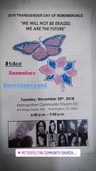2018.11.20 International Transgender Day of Remembrance, Washington, DC USA 4278