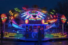 Funfair in Brittany (Patrick Doreau) Tags: funfair reflect fête foraine lumières lights colors couleurs red rouge