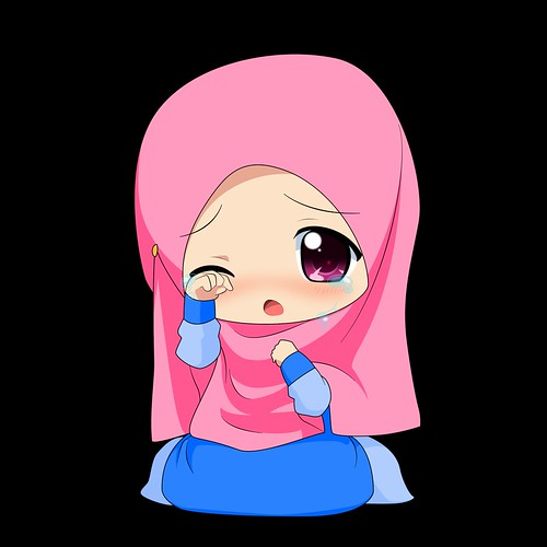 85 Gambar Kartun Muslimah Menangis Sedih HD Terbaik