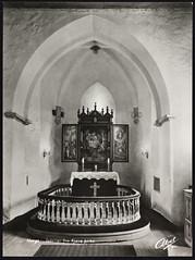 Postkort fra Agder (Avtrykket) Tags: alter alterring altertavle apside apsis middelalderkirke postkort grimstad austagder norway nor