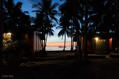 good night (Collin Key) Tags: indonesia sulawesinight boat coast sunset ampana palmtrees tojounauna sulawesitengah indonesien id