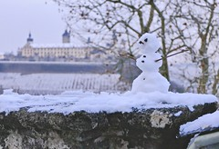 First snow (evakatharina12) Tags: würzburg festung marienberg unterfranken franconia bavaria germany snow snowman fortress winter december
