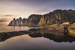 Landscape Tungeneset Senja (Helmut Wendeler aus Hanau) Tags: norway landscape senja tungeneset reflection sunset mountain longexposure