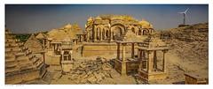 Bada Bagh Cenotaph, Jaisalmer, India (Richard Murrin Art) Tags: badabaghcenotaph jaisalmer india the tomb complex for maharajas state richard murrin art