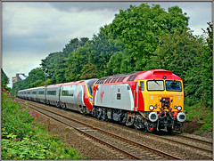 57303, Daw Mill (Jason 87030) Tags: 57303 dawmill coalmine colliery warks warwickshire wcml diversion drag portaloo pendolino dildo vermin virgin lines tracks august 2017 canon red yellow grey silver trees green transport diesel bodysnatcher thunderbird