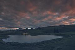 Shepherd's dream (Marko Zoranovic) Tags: sunset evening dusk sky colours pond lake water reflection man light cottage slovenia