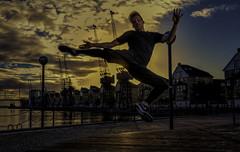 Flying Kick (BUD2088) Tags: kickboxer sunset london