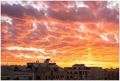 Amman Sunset (nickyt739) Tags: sunset sun sky clouds dramatic gold yellow orange pink purple red scatter colour colourful amman jordan capital city middle east levant nikon dslr fx amateur flickrsbest