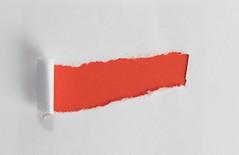 Red hole in paper (wuestenigel) Tags: word hole text ripped paper notes office business note red noperson keineperson wear tragen papier painting malerei creativity kreativität abstract abstrakt paintbrush pinsel brush bürste tatter fetzen banner margin spanne one ein art kunst cardboard karton shape gestalten cutout ausgeschnitten snap schnappen pastel pastell empty leeren flag flagge