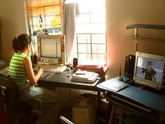 nu workstation (fixionauta) Tags: sony cybershot dscp73 fixionauta renato quiroga eva cabrera workstation