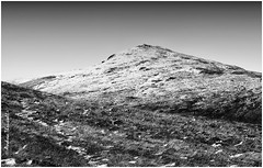 Bleak Winter (manxmaid2000) Tags: cold snow hill mountain grass winter weather thaw path peak isleofman iom manx footpath