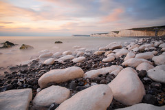 Birling Gap (Ashley Hemsley) Tags: seascape landscape skyscape cloudscape long exposure shutter speed creative art artist unique shot view explore flickr nd filter beach seafront coast coastal rock pools tides water clouds sky sunset sun set canon camera 5d mark 3 birling gap east sussex uk england united kingdom south atmosphere iconic cliffs white tidal beauty nature scenic colours color