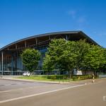This is neighbor Nipro Hachiko Dome. ニプロハチ公ドームの隣に建つ体育館です。こちらも色んな賞を受賞しています。
