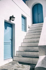 DSC_3592 (http://georgepramaggioulis.wixsite.com/aperture) Tags: urban architecture city island kithira greece window door stairs white blue greek colour shadows