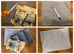 Quick Craft: Flax Seed Warming Bag (Foxy Belle) Tags: craft handmade flax seed warming hot heat bag diy gift