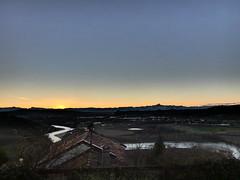 Just after sunset (lsdiego85) Tags: langhe barbaresco piemonte piedmont sunset autumn river tanaro alps alpi autunno fiume monviso landscape paesaggio italia italy lumix panasonic dcfz82