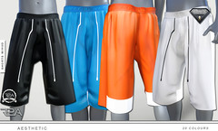 aesthetic SHORTS (Real2All) Tags: aesthetic shorts sl secondlife designer baggy silk basketball mesh muscle aestheticmeshbody hud male men lads guys