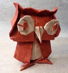 Búho (mrmicawer) Tags: papiroflexia origami papel búho owl pájaro ave bird nocturno
