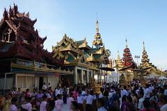Ordination ceremony for novice Buddhist monks, Shwedagon Pagoda, Yangon (7) (Prof. Mortel) Tags: myanmar burma yangon rangoon buddhist pagoda shwedagon monks