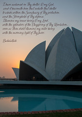 Baha'i House of worship (irisnoack) Tags: bahai temple worship prayer india sunrise