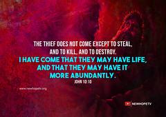 John 10:10 (newhopetvblr) Tags: bible john 1010 nkjv theif bangalore christian television kannada