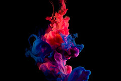 FLUID DYNAMICS (steve-wyper) Tags: fluid ink paint abstract black orange blue pink flow acrylic scuplture water art creative