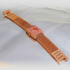 Ladies Watch. Pink Diamond Watch. Jules Jurgenson Watch. Vintage Watch. Women's Rose Gold Watch. NOS Watch. Jewelry for Women. waalaa (waalaa) Tags: etsy vintage antique shopping jewelry jewellery gifts wedding