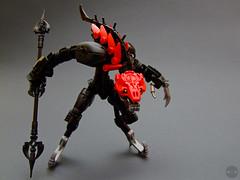 Son of Makuta - Dodge (Djokson) Tags: rahkshi demon monster creature snake worm armor red black grey silver warrior robot lego moc bionicle toy model djokson reptilian lizardman