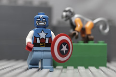 Captain America (N.the.Kudzu) Tags: tabletop toys lego minifigures captamerica monkey canondslr canoneflens lightroom