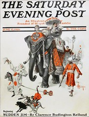 The Saturday Evening Post, Vol. 188, No. 51 (June 17, 1916). Illustrated front cover of a Great Circus Parade by J. C. Leyendecker (lhboudreau) Tags: magazine magazinecover magazineart magazinecoverart vintagemagazine vintagemagazineart vintagemagazinecover coverart leyendecker jcleyendecker art artwork painting illustration illustrator saturdayeveningpost thesaturdayeveningpost vintage josephchristianleyendecker americanillustrator 1916 june1916 june171916 volume188number51 cover design circus clown clowns elephant animal animals parade people frontcover illustratedfrontcover monkey monkeys dog dogs greatcircusparade suddenjim clarencebudingtonkelland pachyderm hobbyhorse