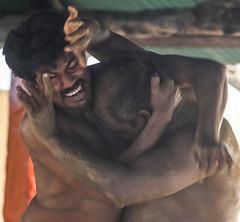 An Indian Oedipus (ybiberman) Tags: varanasi india utterpradesh men people streetphotography candid kussti wrestling sport club match sand sandbox pehlwani