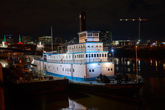 The Sternwheel Steamboat / Tug 'Portland' (coljacksg) Tags: sternwheel steamboat tug portland evening christmas time shot steam mored tom mccall waterfront park oregon