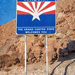 Arizona State Sign (on the way to Hoover Dam) thumbnail