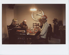 Christmas traditions (ronet) Tags: fuji christmas2018 christmasdinner family film fujiinstax500af instantfilm instax lunch scanned
