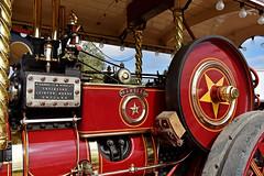 The Rambler.. (Harleynik Rides Again.) Tags: steamengine steam tractionengine red gears rambler wheels nikond810 harleynikridesagain