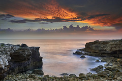 Cabo Raso, Cascais - Portugal (Joao Eduardo Figueiredo) Tags: caboraso cabo raso cascais portugal beach sunset água sol areia rochas sea sand ocean atlantic rock rocks cliffs rocky coast coastline water natural nikon nikond800e joaofigueiredo joaoeduardofigueiredo seascape fire sky smoke
