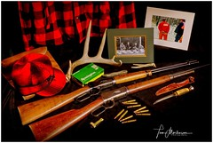 Vintage Deer Gear (Tom Mortenson) Tags: wisconsin deerhunting huntinggear stilllife canoneos canon5ds canon geotagged rifles equipment nostalgia centralwisconsin familytradition deer guns firearms whitetailhunting usa america northamerica midwest winchesterrifle winchester3030 winchester32special colorful memorabilia collectibles vintagegear longexposure memories novembertradition studiophotography digital americana colours