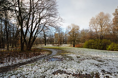 First snow. Path. (fedoseenko) Tags: санктпетербург россия красота colour природа beauty blissful loveliness beautiful saintpetersburg sunny art shine dazzling light russia day park peace blue white голубой небо лазурный color sky pretty sun пейзаж landscape clouds view heaven mood serene golden gold colours picture road tree grass nature alley trees walkway field outdoors old d800 wood holy path winter snow water reflection cloud sanctuary lake feodorovsky осень autumn 24120mmf3556d