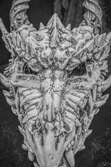 MeraLuna_2018 (34.1) (uwesacher) Tags: drachenschädel geisterbahn hildesheim 2018 luna mera grabräuber totenkopf bw sw meraluna smaug hobbit feuerschlange feuerwurm xe3 fuji fujifilm fujinon