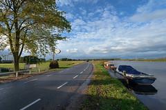 Amstel (Julysha) Tags: d800e nikkor142428 acr autumn october 2012 river boats road sky clouds amstel thenetherlands holland voetangelweg
