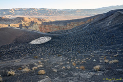 Ubehebe Crater – 12 (Roy Prasad) Tags: green california deathvalley park desert canyon sand landscape nature prasad royprasad sony a7r a7rm3 travel hiking hike