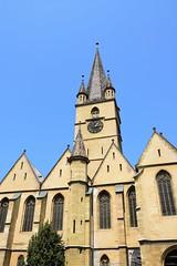 Catedral evangelista (Sibiu, Rumanía, 19-8-2018) (Juanje Orío) Tags: 2018 sibiu transilvania rumanía românia catedral cathedral europa europe europeanunion unióneuropea religión cristianismo reloj clock
