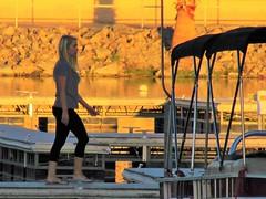 BlueWater Marina (thomasgorman1) Tags: street dock marina az arizona water bluewater canon zoom zoomed woman candid walking boat outdoors