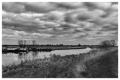 Stretham - Cambridgeshire (fenman_1950) Tags: rivercam monochrome water stretham sonya77