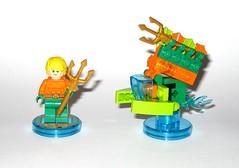 lego 71237 lego dimensions fun pack dc comics aquaman minifigure and aqua watercraft h (tjparkside) Tags: 71237 aquaman watercraft trident aqua seven seas speeder fire lego dimensions fun pack 3 1 minifigure minifigures misb 2016 videogame software dc comics