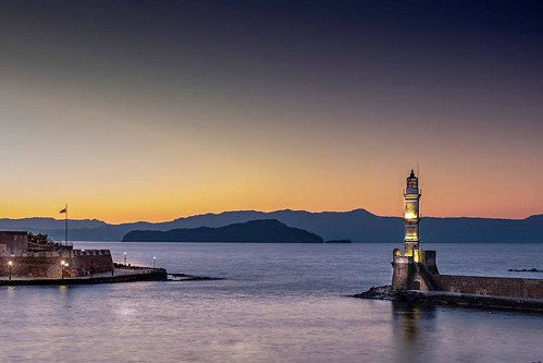 Sunset over Chania