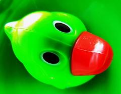 """Hello Ducky"" HMM (seanwalsh4) Tags: macromondays green toygreenduck 12112018 hmm lovepeace seanwalsh funny nice happy love makemesmile"